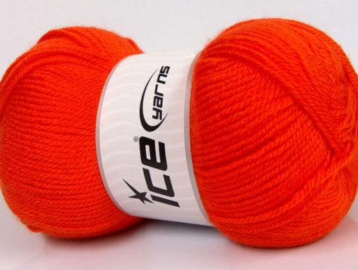 Lot of 4 x 100gr Skeins Ice Yarns GONCA Hand Knitting Yarn Dark Orange