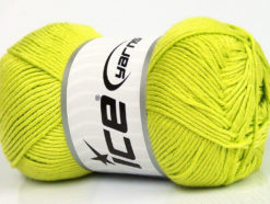 Lot of 4 x 100gr Skeins Ice Yarns BAMBOO SOFT (50% Bamboo) Yarn Light Green