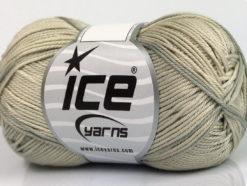 Lot of 6 Skeins Ice Yarns COTTON FINE MELANGE (100% Mercerized Cotton) Yarn Light Grey