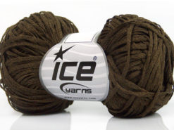 Lot of 8 Skeins Ice Yarns VIOLINO Hand Knitting Yarn Dark Khaki