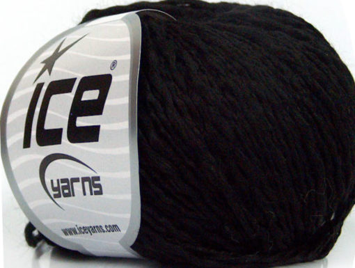 Lot of 8 Skeins Ice Yarns SALE SUMMER (10% Cotton) Hand Knitting Yarn Black