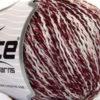 Lot of 8 Skeins Ice Yarns FLORIDA LANA (20% Wool) Yarn Burgundy White