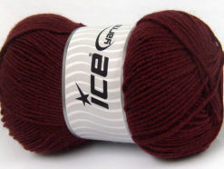 Lot of 4 x 100gr Skeins Ice Yarns ELITE WOOL (30% Wool) Yarn Burgundy