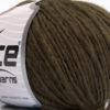Lot of 8 Skeins Ice Yarns WOOL CORD ARAN (50% Wool) Yarn Dark Brown