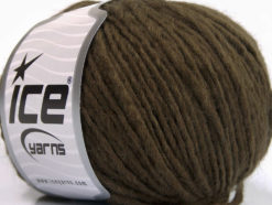 Lot of 8 Skeins Ice Yarns WOOL CORD ARAN (50% Wool) Yarn Dark Brown