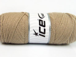Lot of 4 x 100gr Skeins Ice Yarns BONITO (50% Wool) Yarn Cafe Latte