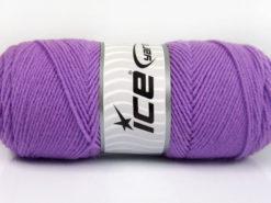Lot of 4 x 100gr Skeins Ice Yarns BONITO (50% Wool) Hand Knitting Yarn Lilac