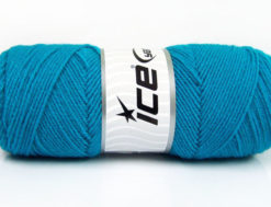 Lot of 4 x 100gr Skeins Ice Yarns BONITO (50% Wool) Yarn Turquoise