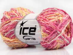 Lot of 8 Skeins Ice Yarns PALERMO COTONE (35% Cotton) Yarn Pink Shades Yellow Shades