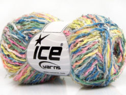 Lot of 8 Skeins Ice Yarns PALERMO COTONE (35% Cotton) Yarn Green Blue Yellow Pink
