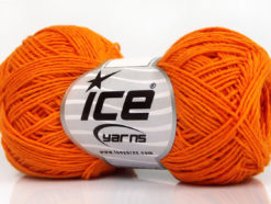 Lot of 8 Skeins Ice Yarns NATURAL COTTON FINE (100% Cotton) Yarn Dark Orange