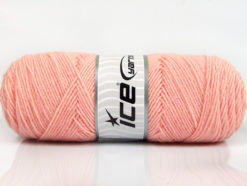 Lot of 4 x 100gr Skeins Ice Yarns BONITO (50% Wool) Yarn Light Salmon