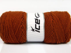 Lot of 4 x 100gr Skeins Ice Yarns SAVER 100 Hand Knitting Yarn Copper