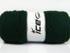 Lot of 4 x 100gr Skeins Ice Yarns SAVER 100 Hand Knitting Yarn Dark Green