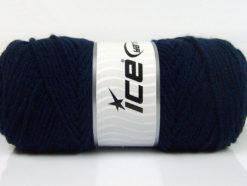 Lot of 4 x 100gr Skeins Ice Yarns SAVER 100 Hand Knitting Yarn Dark Navy