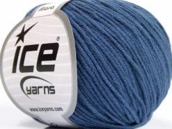 Lot of 8 Skeins Ice Yarns ALARA (50% Cotton) Hand Knitting Yarn Blue