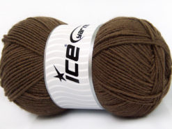 Lot of 4 x 100gr Skeins Ice Yarns ELITE WOOL (30% Wool) Yarn Dark Brown