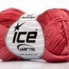 Lot of 6 Skeins Ice Yarns COTTON FINE MELANGE (100% Mercerized Cotton) Yarn Salmon