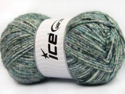 Lot of 4 x 100gr Skeins Ice Yarns WOOL MELANGE (30% Wool) Yarn Grey Shades Turquoise White