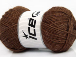 Lot of 4 Skeins Ice Yarns SILK MERINO DK (35% Silk 65% Merino Wool) Yarn Brown