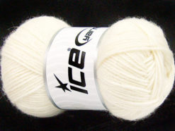 Lot of 4 Skeins Ice Yarns SILK MERINO DK (35% Silk 65% Merino Wool) Yarn Cream