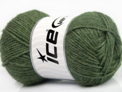 Lot of 4 Skeins Ice Yarns SILK MERINO DK (35% Silk 65% Merino Wool) Yarn Dark Green