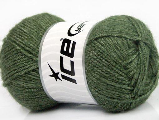 Lot of 4 Skeins Ice Yarns SILK MERINO DK (35% Silk 65% Merino Wool) Yarn Dark Green
