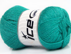 Lot of 4 Skeins Ice Yarns SILK MERINO DK (35% Silk 65% Merino Wool) Yarn Emerald Green