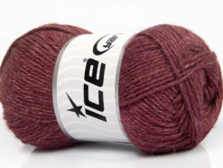 Lot of 4 Skeins Ice Yarns SILK MERINO DK (35% Silk 65% Merino Wool) Yarn Maroon