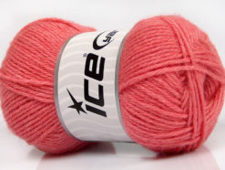 Lot of 4 Skeins Ice Yarns SILK MERINO DK (35% Silk 65% Merino Wool) Yarn Salmon