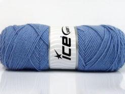 Lot of 4 x 100gr Skeins Ice Yarns BONITO (50% Wool) Yarn Indigo Blue