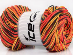 Lot of 4 x 100gr Skeins Ice Yarns DREAM Yarn Black Salmon Shades Gold