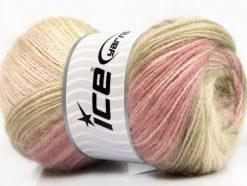 Lot of 4 x 100gr Skeins Ice Yarns ANGORA ACTIVE (25% Angora) Yarn Pink Shades Camel Cream