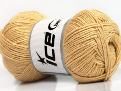 Lot of 4 x 100gr Skeins Ice Yarns BAMBOO SOFT (50% Bamboo) Yarn Dark Cream