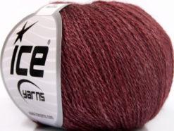 Lot of 6 Skeins Ice Yarns SILK MERINO (35% Silk 65% Merino Wool) Yarn Burgundy
