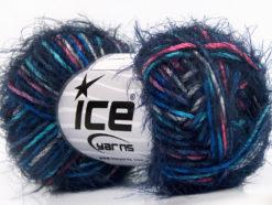Lot of 8 Skeins Ice Yarns PRIMAVERA Hand Knitting Yarn Navy Pink Blue