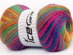 Lot of 4 x 100gr Skeins Ice Yarns ANGORA ACTIVE (25% Angora) Yarn Rainbow