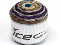 Lot of 3 x 100gr Skeins Ice Yarns CAKES BLUES Yarn Blue Purple Camel
