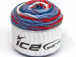 Lot of 3 x 100gr Skeins Ice Yarns CAKES BLUES Yarn Blue Shades Red Grey White