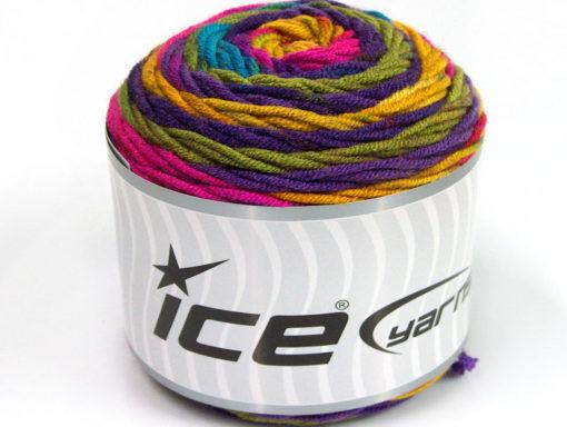 Lot of 3 x 100gr Skeins Ice Yarns CAKES BLUES Hand Knitting Yarn Rainbow