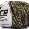 Lot of 8 Skeins Ice Yarns FLAMME DUO Hand Knitting Yarn Dark Brown Camel