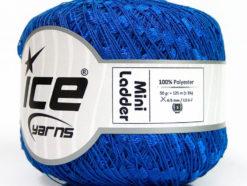 Lot of 6 Skeins Ice Yarns Trellis MINI LADDER Hand Knitting Yarn Blue