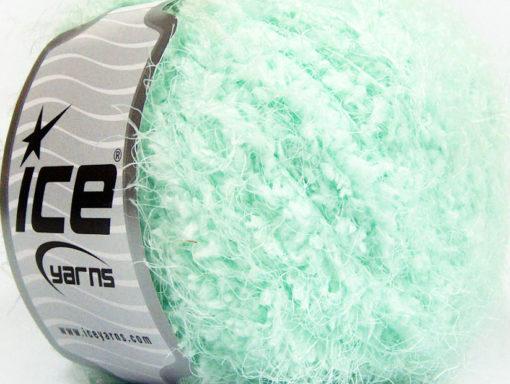 Lot of 8 Skeins Ice Yarns POLAR SOFT Hand Knitting Yarn Mint Green