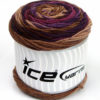 Lot of 3 x 100gr Skeins Ice Yarns CAKES BLUES Yarn Brown Shades Purple Shades