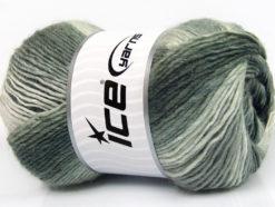 Lot of 4 x 100gr Skeins Ice Yarns LANA BELLA (30% Wool) Yarn Grey Shades