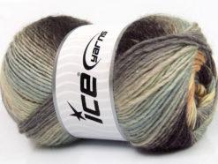 Lot of 4 x 100gr Skeins Ice Yarns LANA BELLA (30% Wool) Yarn Brown Grey Shades Cream