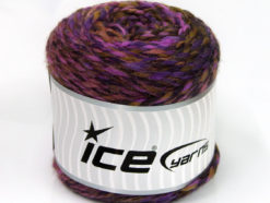 Lot of 2 x 200gr Skeins Ice Yarns CAKES WOOL CHUNKY COLORS (30% Wool) Yarn Purple Shades Brown Shades