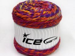 Lot of 2 x 200gr Skeins Ice Yarns CAKES WOOL CHUNKY COLORS (30% Wool) Yarn Purple Red Orange Yellow