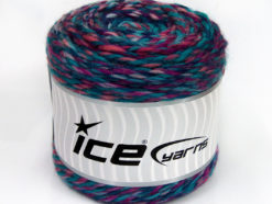 Lot of 2 x 200gr Skeins Ice Yarns CAKES WOOL CHUNKY COLORS (30% Wool) Yarn Turquoise Pink Lavender Purple