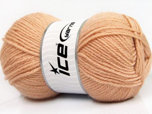 Lot of 4 x 100gr Skeins Ice Yarns FAVOURITE WOOL (50% Wool) Yarn Light Salmon